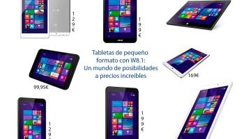 f3ce403571c Tabletas de pequeño formato con W8.1: Un mundo de posibilidades a precios  increíbles
